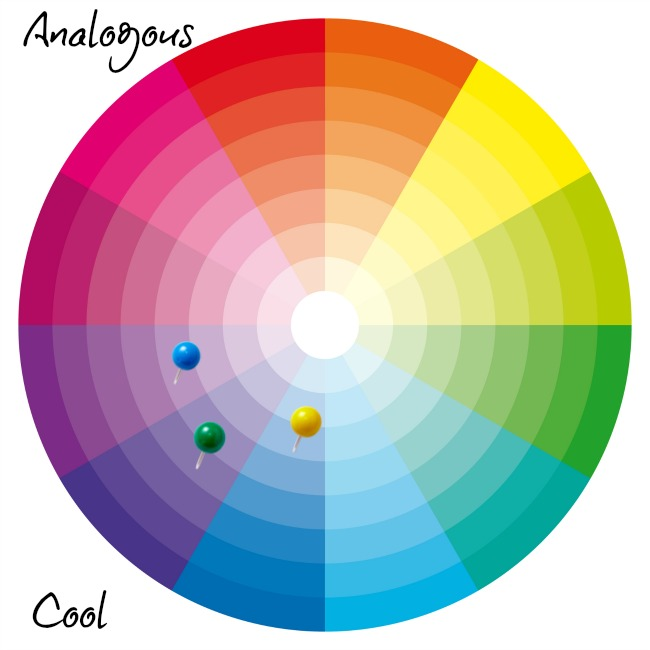 creating an analogous color scheme with cool colors