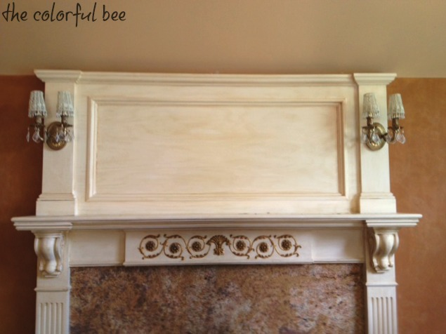 a mantel with no decorations