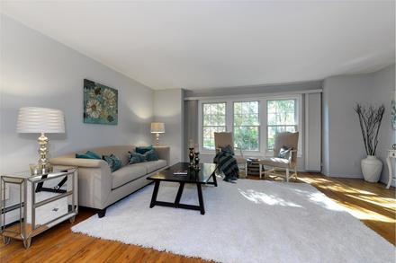staging a living room to sell on Long Island