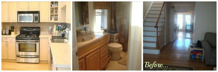 before renovation and home staging in Elmont NY