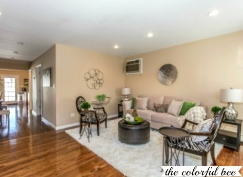 Selling your home quickly staged elmont ny home sells for Staging small living room