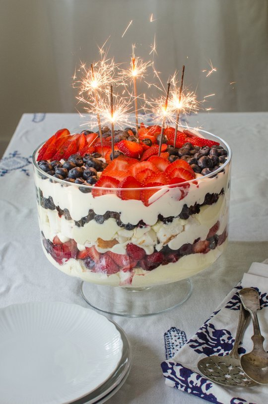 a Fourth of July trifle from the Kitchn