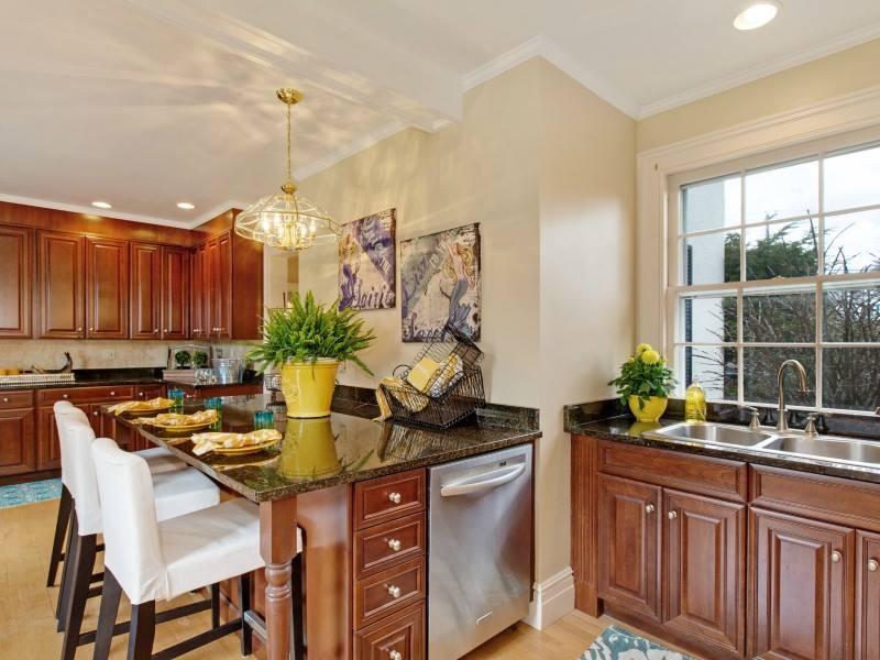 a kitchen after