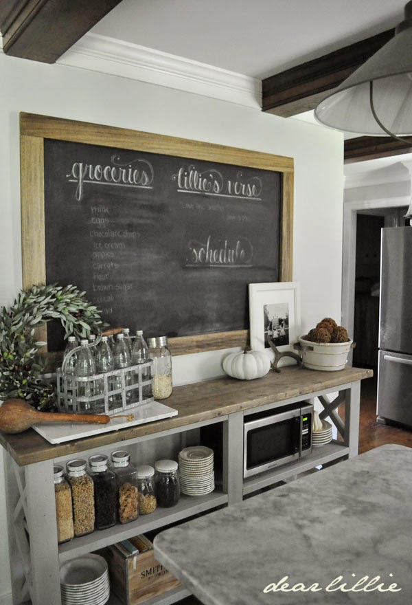 blackboard inspiration for a laundry room