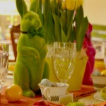 Easter, holiday table setting, bunnies, Long Island